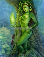 Green Goddess Signed Print Moore