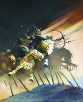 The Huns Print Art by Frank Frazetta