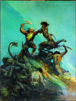 Indomitable Print Art by Frank Frazetta