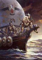 Kane on The Golden Sea Print Art by Frank Frazetta