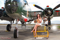 Wings of Angels Color Print Michael Malak Sarah Hanging Laundry at the WWII B-25J Mitchell