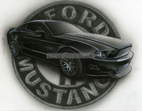 Mustang Muscle Signed Pin Up Print Moore