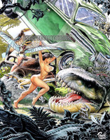 Cavewoman Action Comic homage