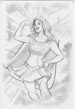 Supergirl Original Sketch