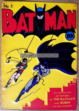Batman Comic Book Metal Sign