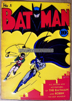 Batman Comic Book Metal Sign