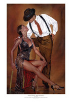 Ray Leaning < Tango Cortina > Limited Signed Giclee # 1/50 Dance Art Print 17X25