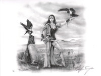 Morrigan Limited Signed Giclee # 1/50 Pin Up Art Print Ray Leaning