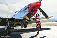 Malak Wings of Angels Red Hot Rox WWII P-51D Mustang