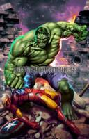 Hulk Smash Print Carlos Valenzuela