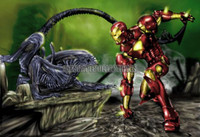 "Pete Tapang ""Iron Man vs Alien"" Signed Comic Book Art Print 11X14"
