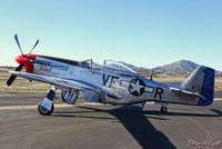 "Malak Wings of Angels WWII Plane Vintage P-51D Mustang ""The Rebel"" Print"