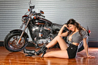 Michael Malak Giclee Claire Sinclair Harley Davidson Motorcycle Print II