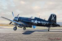 Michael Malak WWII Vintage F4U-4 Corsair Plane Giclee Print 11X17