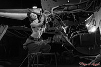 Wings of Angels Michael Malak Pin Up Print Mandee as Rosie the Riveter B&W