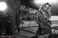 WWII Michael Malak Pin Up 3 Angela Riccio Rosie the Riveter Print