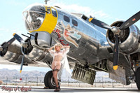 Wings of Angels Michael Malak Pin Up 3 Caitlin B-17 WWII B-17G Flying Fortress