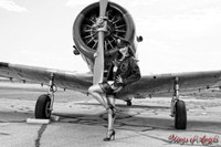 Wings of Angels Michael Malak Pin Up Claire Sinclair B WWII BT-13B Valiant B&W