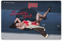 WWII Pin Up Series Beautiful Doll Malak Nose Art Steel Sign