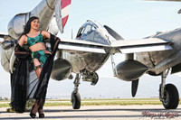 Wings of Angels Tala P-38 Beauty Michael Malak Pin Up Print WWII P-38 Lighting