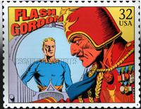 Flash Gordon & Ming the Merciless Postage Stamp Image Tin Sign