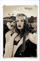 "WWII Pin Up Series Michael Malak Giclee Eyes Like a Hawk Jessamyne Rose 8.5""X11"""