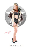 WWII Nose Art Malak Cheesecake Pin Up Girl Art Giclee Jess Ready To Fly Print