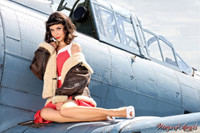 Wings of Angels Michael Malak Giclee Pin Up Nina on the Wing WWII SBD4 Dauntless