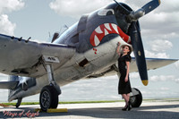 Wings of Angels Michael Malak Pin Up Print 2 Victoria at the Prop of the WWII Hellcat