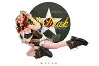 WWII Nose Art Michael Malak Cheesecake Pin Up Giclee Jess Flying Warhawk Print