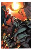Spiderman Rhino Ambush  Print 11x14 Carlos Valenzuela
