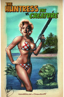 Marilyn Monroe Creature from the Black Lagoon Print Valenzuela