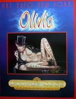 Olivia Art La Femme MusicaleSigned Poster Expo NY