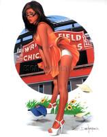 Dave Nestler Windy City Zenescope Comics Cover Art Signed Print