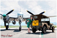 Wings of Angels Pin-Up Tala WWII P-38 Lighting w/ Jeep Malak