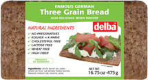 Delba Famous German 3 Grain Bread 16.75oz (475g)