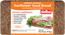 Delba Famous German Sunflower Seed Bread 16.75oz  (475g)