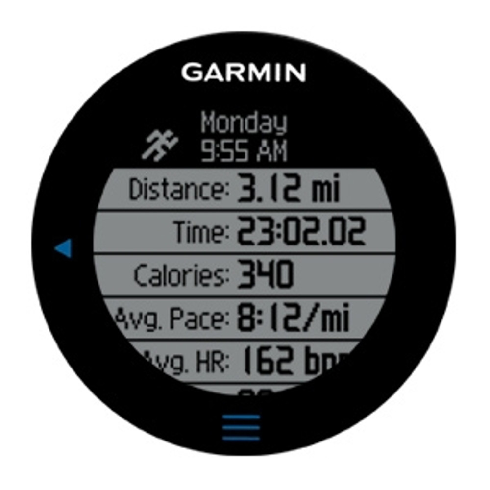 Garmin Forerunner 610 w/Heart Rate Monitor - display