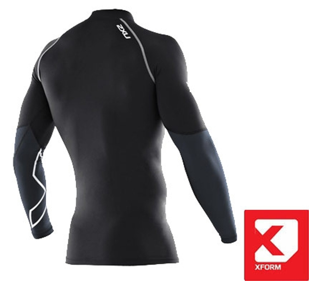 2XU Men's Xform Thermal Long Sleeve Compression Top-Back