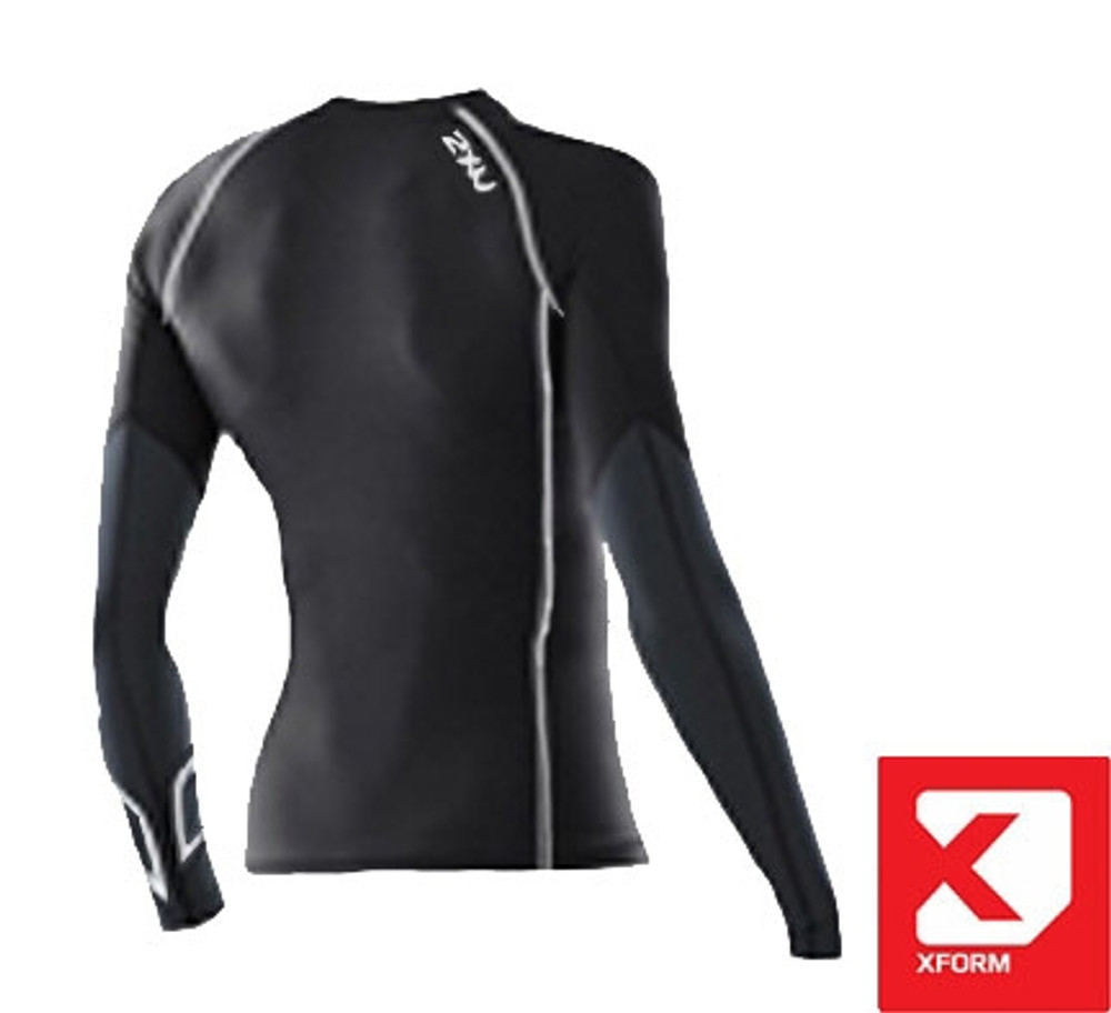 2XU Women's Xform Elite Long Sleeve Compression Top-Back