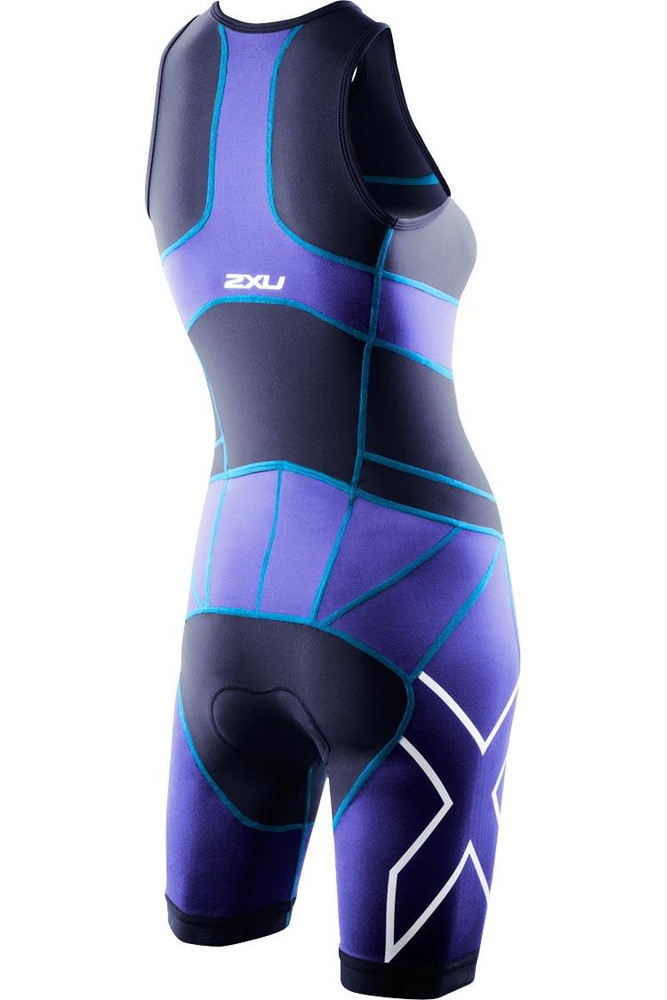 2XU Womens Compression Trisuit - back