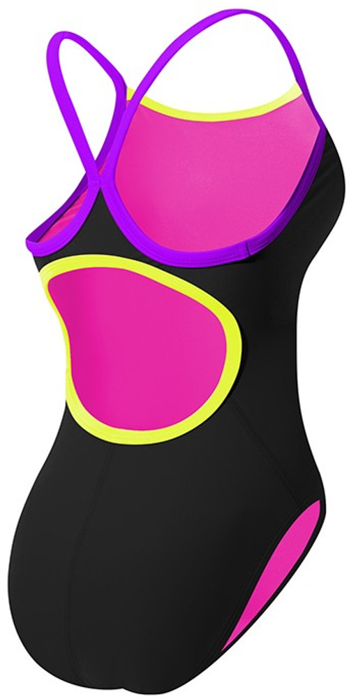 TYR Women's Solid Brites Diamondfit Swimsuit - Back