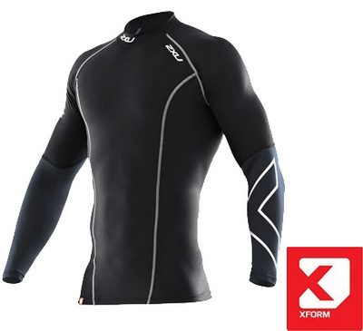 2XU Men's Xform Thermal Long Sleeve Compression Top - 2017