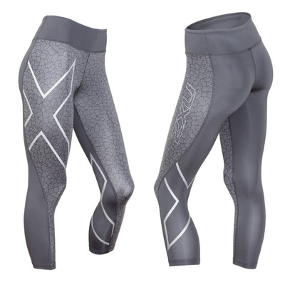 2XU Women's Patterned Mid-Rise 7/8 Compression Tights - 2016
