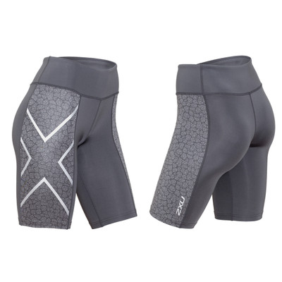 2XU Women's Patterned Mid-Rise Compression Shorts - 2016