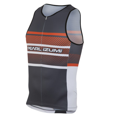 Pearl Izumi Men's Elite In-R-Cool LTD Tri Singlet - Red Orange