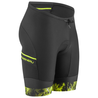 Louis Garneau Men's Pro 9.25 Carbon Tri Shorts - Black/Yellow