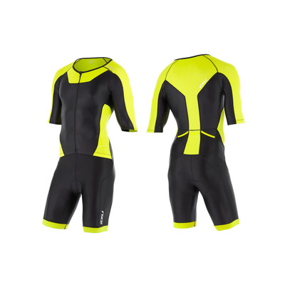 2XU Men's X-Vent Full Zip Tri Suit - Lime Punch