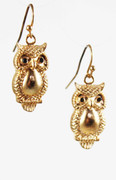 Golden Owl Earrings