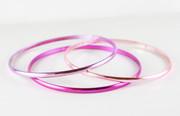 """Three Shades of Pink"" Bangle Bracelet"